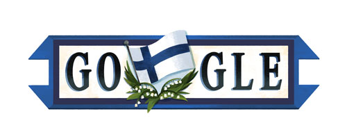Google's Finnish independence logo doodle 2016