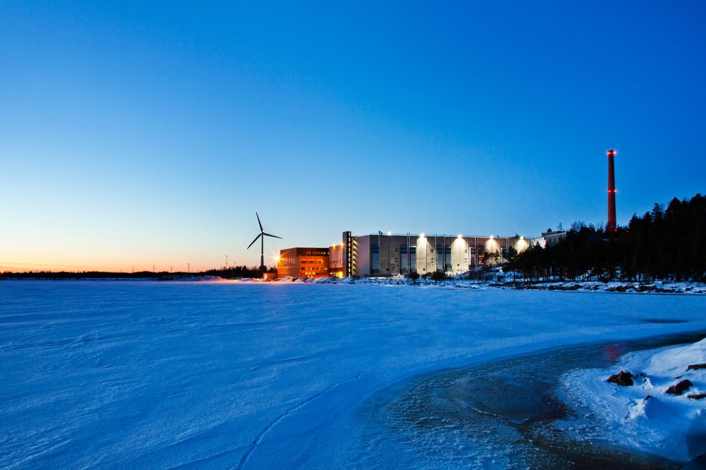 Google's data center in Hamina, Finland
