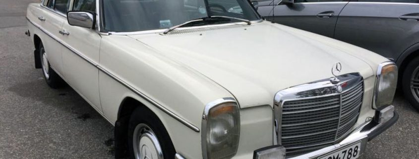 Legal vintage Mercedes Benz W 115, operated by Tero Takamaa