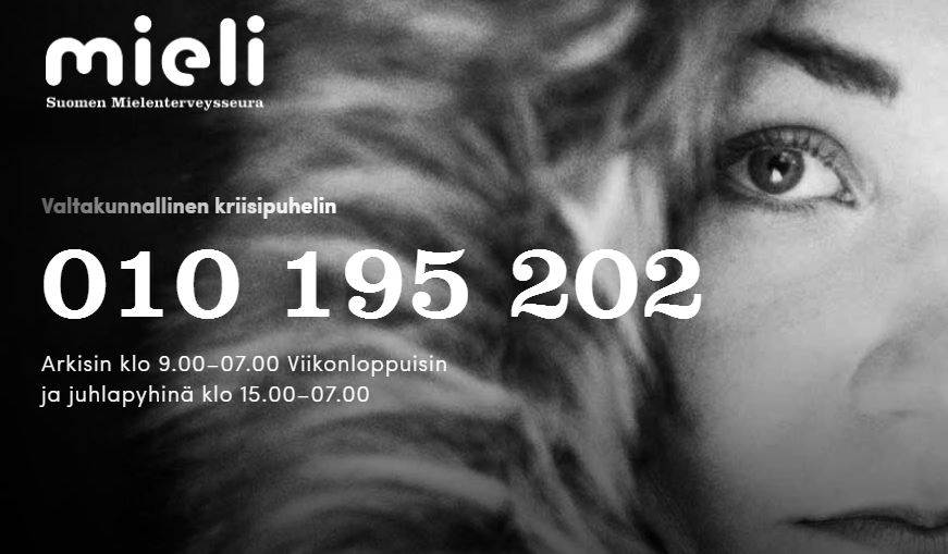 Mental health crisis center hotline, Finland