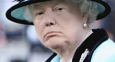 President Donald Trump's face photoshopped onto photo of Queen Elisabeth II