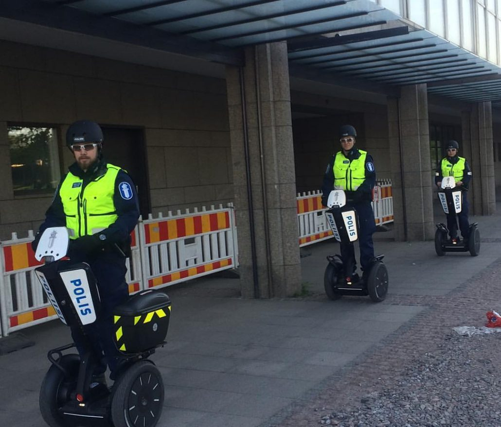 Finnish Police on segways