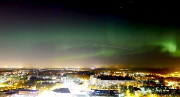 Northern lights in Helsinki