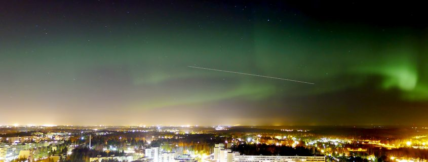 Northern lights in Helsinki