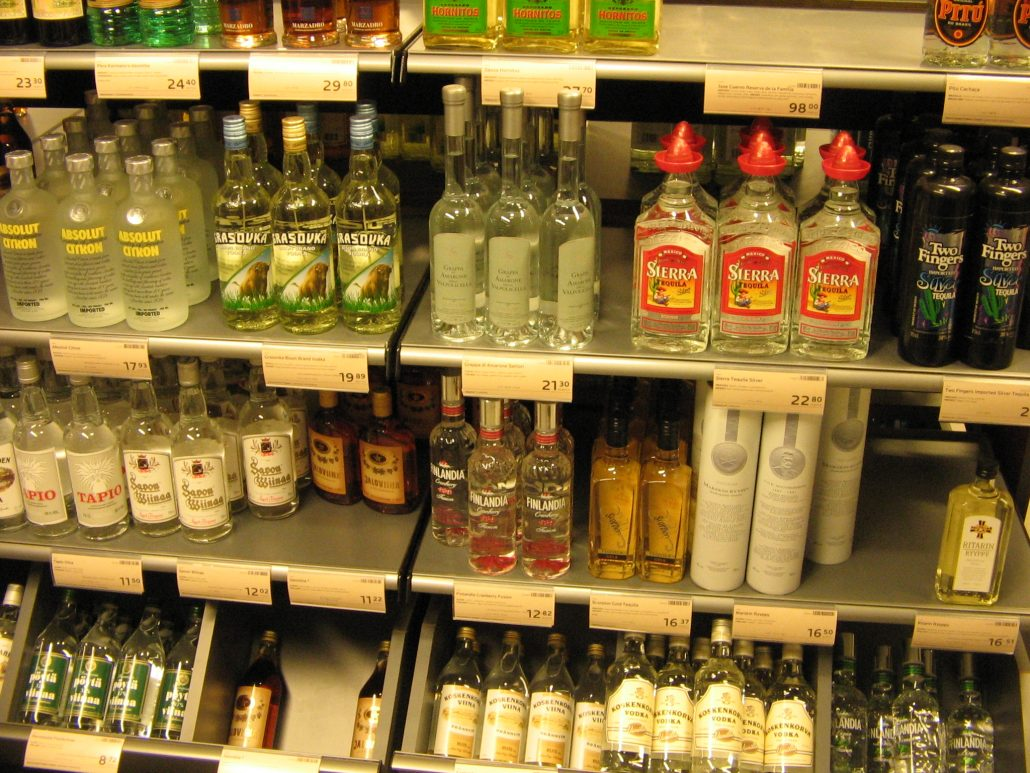 Vodka in Finnish retail