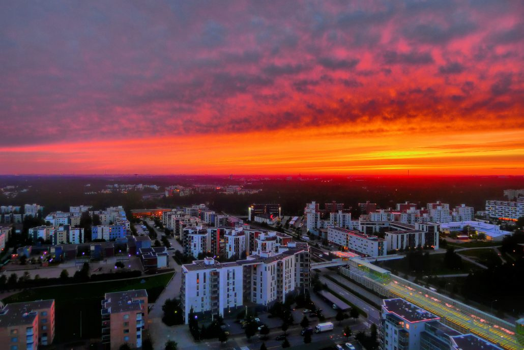 HDR photo of a sunset by Timo Newton-Syms