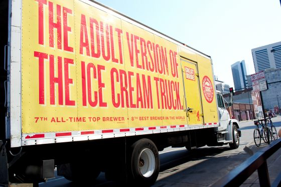 Beer truck, adult version of the ice cream truck