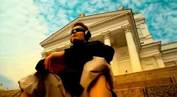 Screenshot from Darude's Sandstorm video