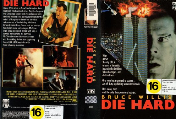 VHS copy of Die HArd