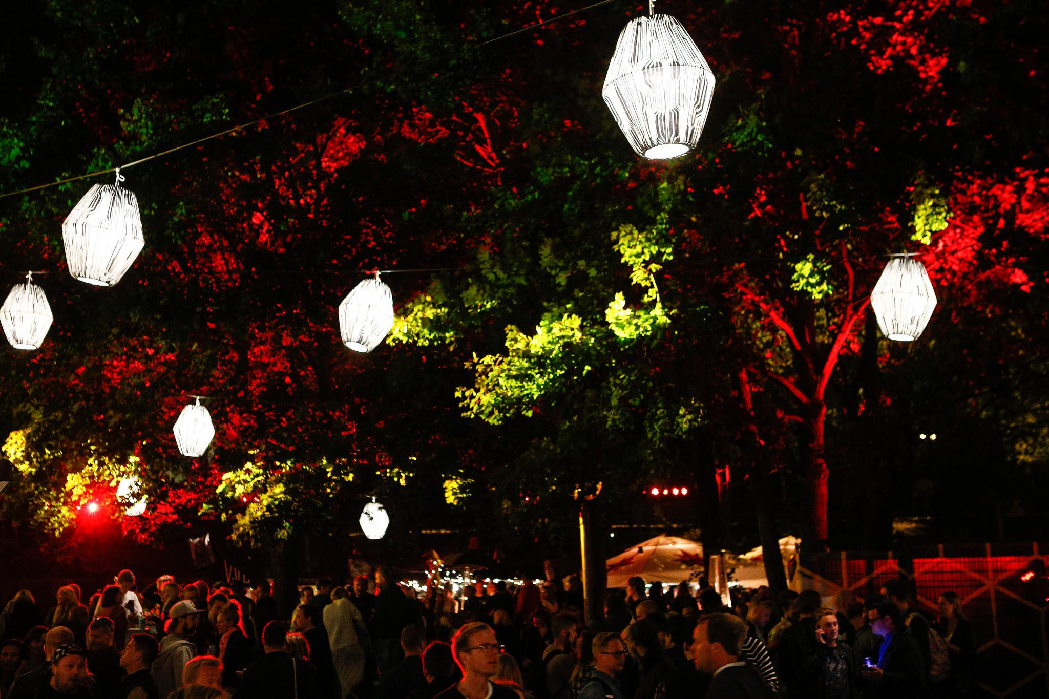 Nicely lit summer evening at Flow Festival