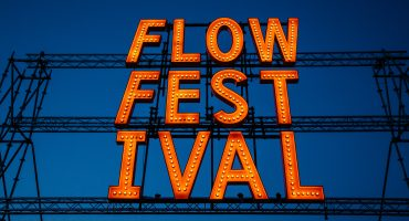 Flow Festival sign, photo by Samuli Pentti