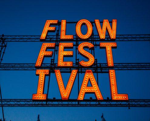 Flow Festival sign, photo by Samuli Pentti