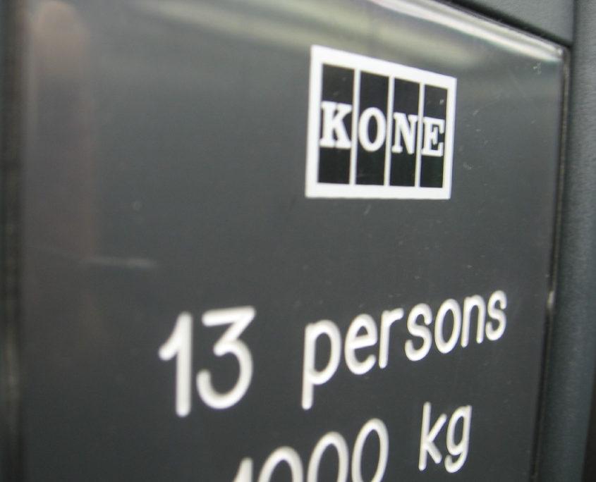 Finnish made Kone elevator