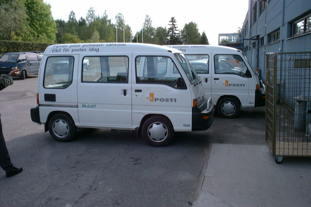 Elcat vans, used by the Finnish postal service in the 90s