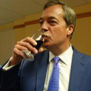 Nigel Farage having a drink in 2017