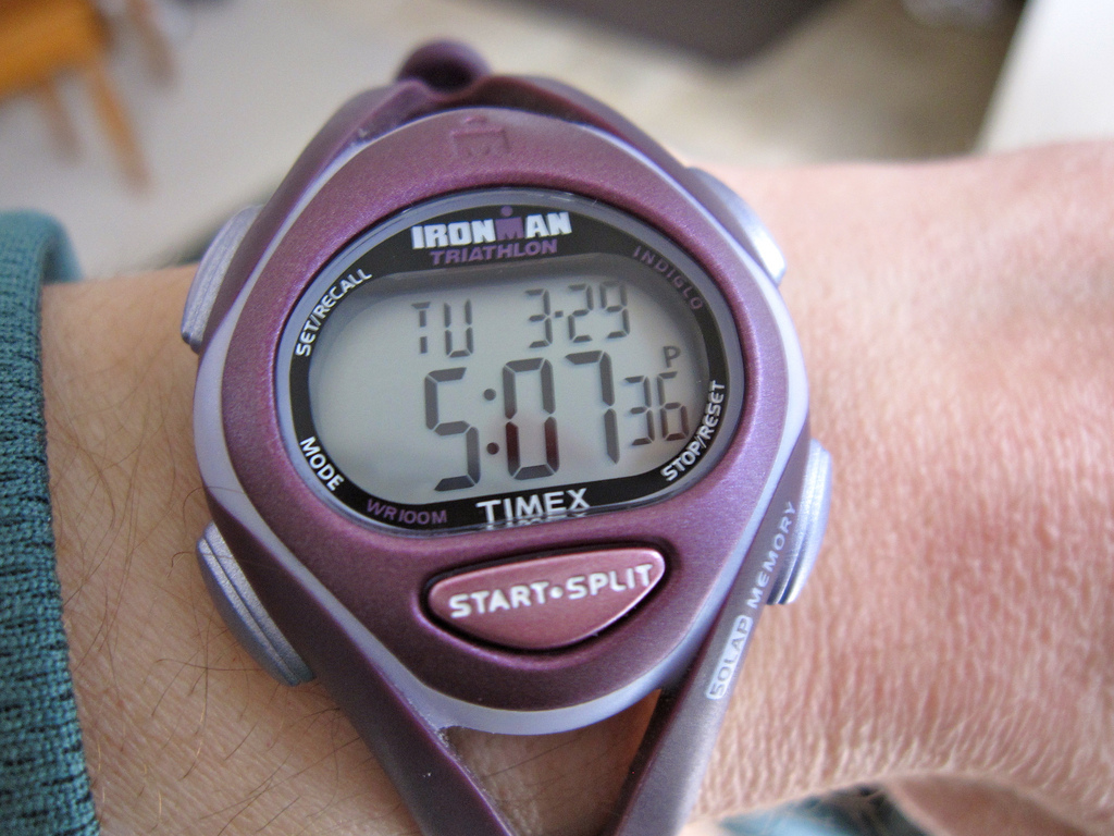 A digital wristwatch