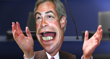 Caricature of Nigel Farage