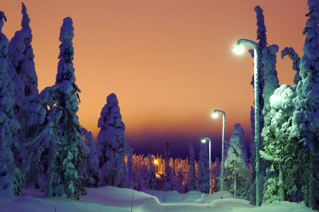 Winter parkway, Ruka, Finland. Photo by Timo Newton-Syms