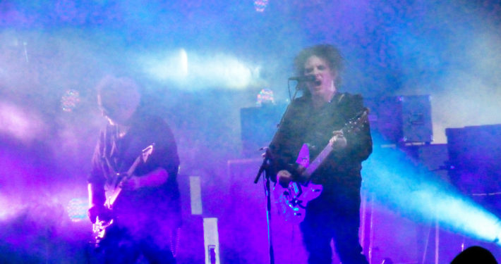 the cure peforming at riot Fest, 2014. Photo by Sean Benham.