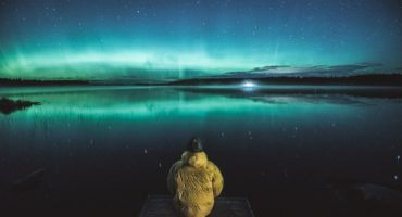 Joonas Linkola, photo of northern lights