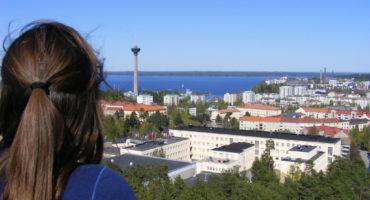 Views towards Näsineula tower in Tampere, summer 2009